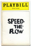 SPEED THE PLOW - 1988 NEW YORK PLAYBILL / THEATRE PROGRAMME